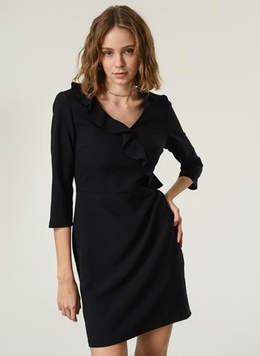 NGSTYLE Kadın Volan Detaylı  Elbise NGKAW20EL0016 Siyah